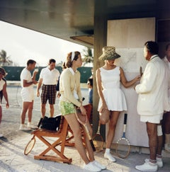 Slim Aarons 'Tennis in the Bahamas' Oversize 40 x 40 Photography Print