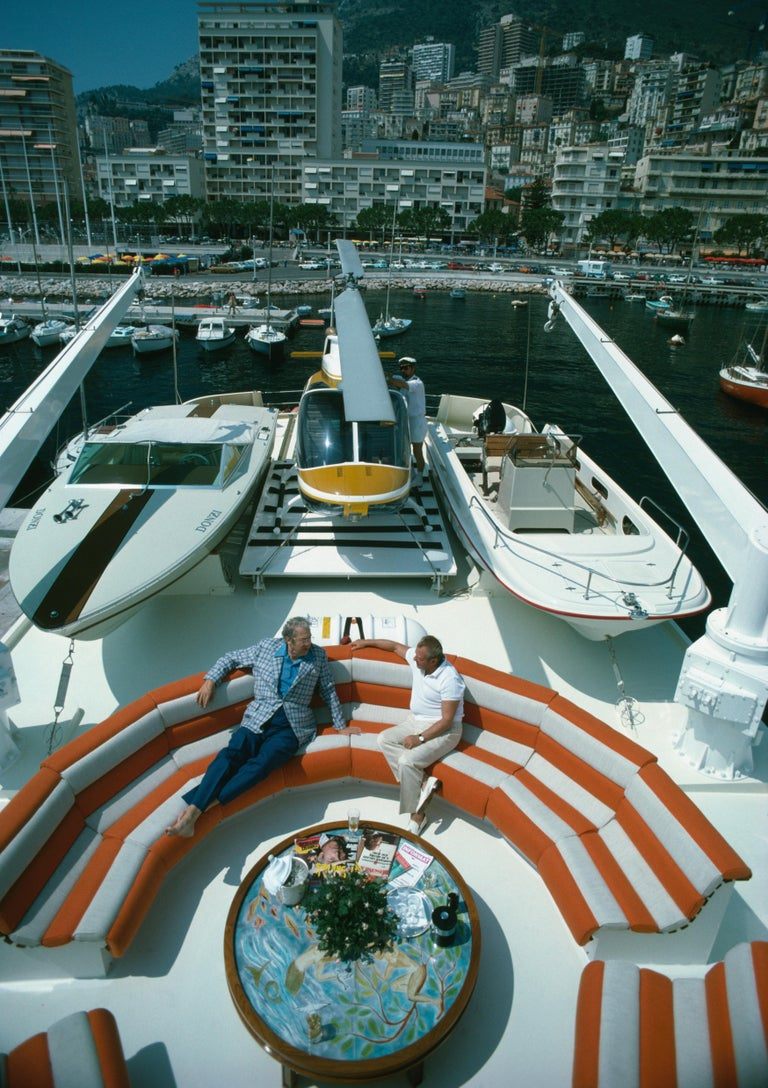 Slim Aarons 'Transport Buffs' Monte Carlo Harbor (Slim Aarons Estate Edition) - Photograph by Slim Aarons