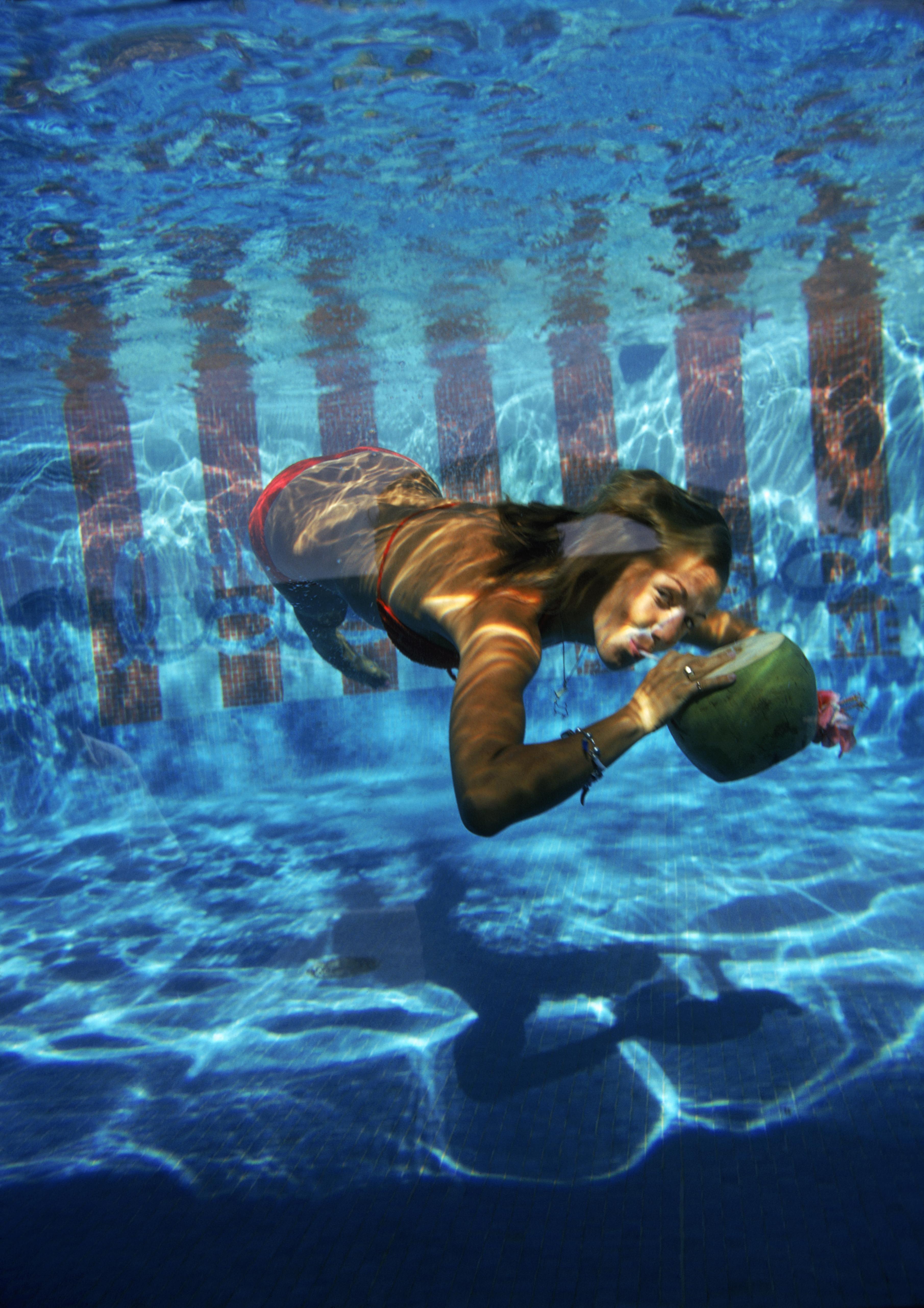 Slim Aarons 'Underwater Drink' (Slim Aarons Estate Edition)