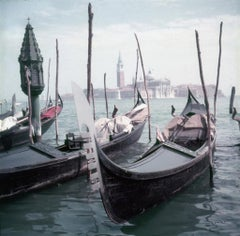 Slim Aarons - Venice Gondolas - Estate Stamped