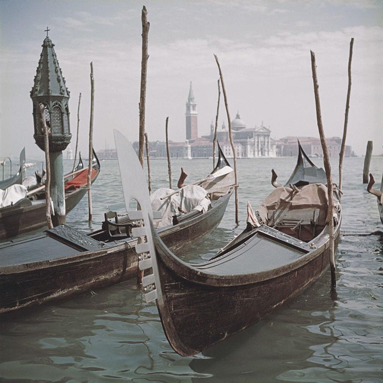 Slim Aarons 'Venice Gondolas' (Slim Aarons Estate Edition) - Photograph by Slim Aarons