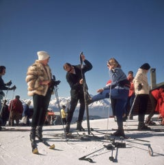 Slim Aarons - Verbier Skiers - Estate Stamped