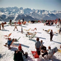 Slim Aarons - Verbier Vacation - Estate Stamped