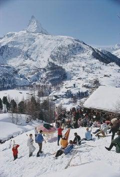 Slim Aarons 'Zermatt Skiing' (Aarons Estate Edition)