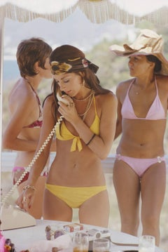 'Social Call' Acapulco 1972 Slim Aarons Limited Edition Estate Stamped Print