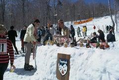 """Sugarbush Skiing (Snow Bar)"" By Slim Aarons, Estate Stamped & Limited, Framed"