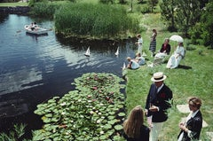 Summer Picnic - Slim Aarons, 20th century, Castle Pines, Yacht club, Lunch party