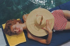 """Sunbathing in Burgenstock""  by Slim Aarons, NEW Estate Stamped, Limited Edition"