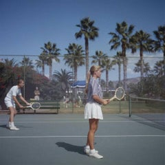 Tennis In San Diego California 1956 Slim Aarons Limited Edition Estate Stamped