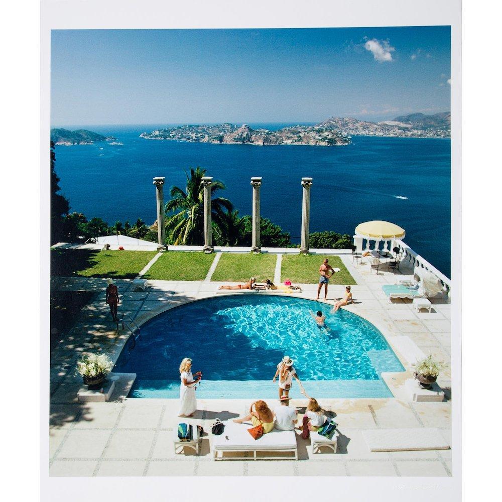 The Pool at Villa Nirvana, Acapulco - Slim Aarons, 20th Century, Photograph, Sea