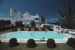 Trident Castle, Earl Levy - Slim Aarons, 20th century, Poolside, Glamour