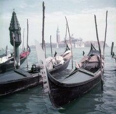 Venice Gondolas (1957) Limited Estate Stamped