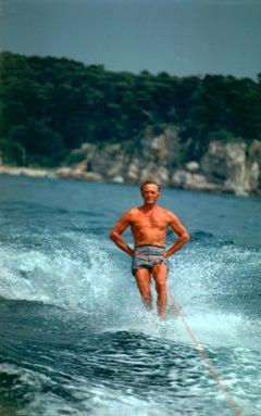 Waterskiing Star: Kirk Douglas, Hôtel du Cap Eden-Roc, Estate Edition Photograph
