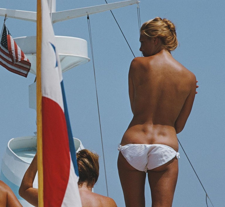 'Yacht Holiday' by Slim Aarons   Limited Edition Estate Print limited to 150 only  numbered in ink & emboss stamped.  60 x 40