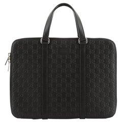 Slim Briefcase Guccissima Leather Medium