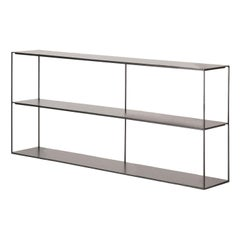 Slim Irony Black Bookcase