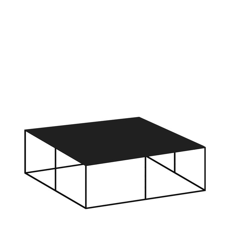 This exquisite coffee table will make a statement in a black and white or neutral-colored decor, particularly if contemporary or Industrial, and will also complement other black furniture pieces by the same designer for a cohesive look. The