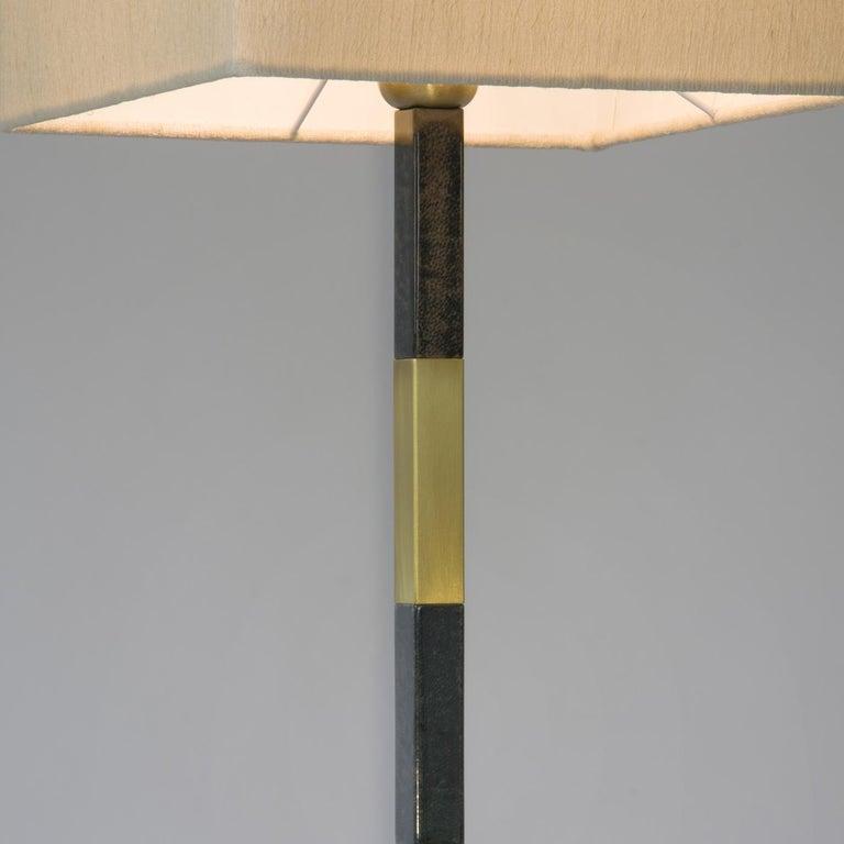 Italian Slim Table Lamp in Brass For Sale