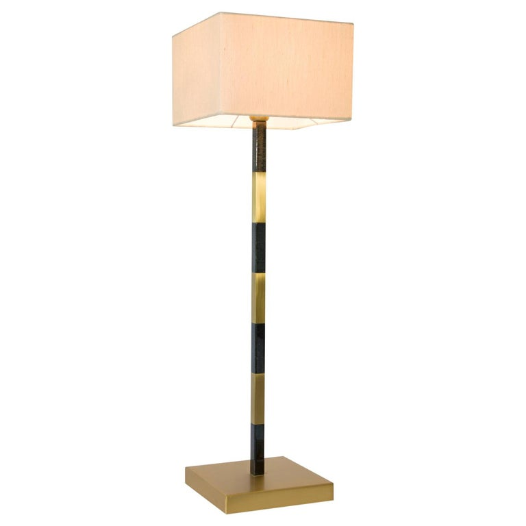 Slim Table Lamp in Brass For Sale
