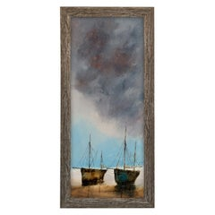 Slimline Portrait, Oil Painting, Marine, Beach, Sky, Art, Original
