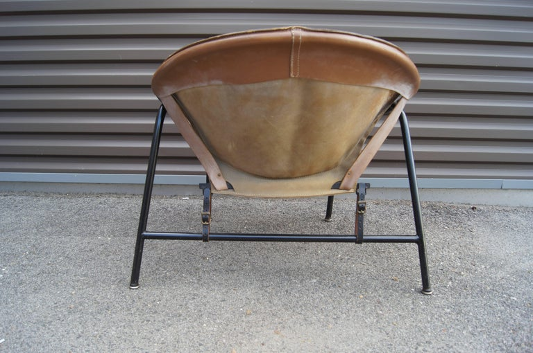 Scandinavian Modern Sling Chair, Model BO 360 by Erik Ole Jørgensen for Olaf Black For Sale