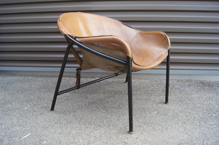 Danish Sling Chair, Model BO 360 by Erik Ole Jørgensen for Olaf Black For Sale