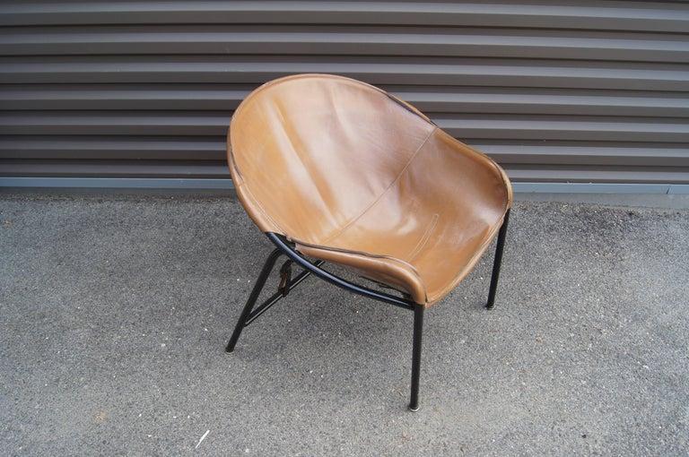 Enameled Sling Chair, Model BO 360 by Erik Ole Jørgensen for Olaf Black For Sale