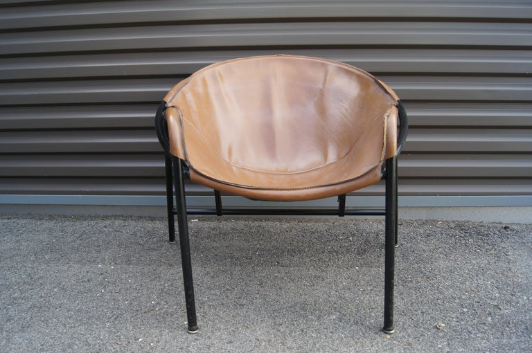 Sling Chair, Model BO 360 by Erik Ole Jørgensen for Olaf Black In Excellent Condition For Sale In Boston, MA