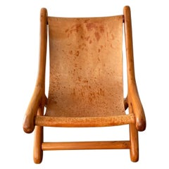 """Sling Chair """"Sloucher"""" in the Style of Don S. Shoemaker, Mexican, 1960s, Boho"""