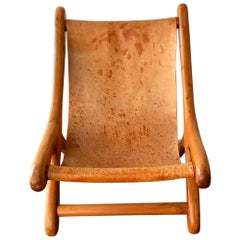 "Sling Chair ""Sloucher"" in the Style of Don S. Shoemaker, Mexican, 1960s, Boho"