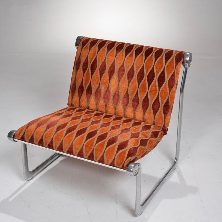 Mid-Century Modern Sling Lounge Chairs by Hannah Morrison for Knoll International For Sale