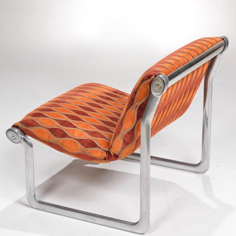 Embossed Sling Lounge Chairs by Hannah Morrison for Knoll International For Sale