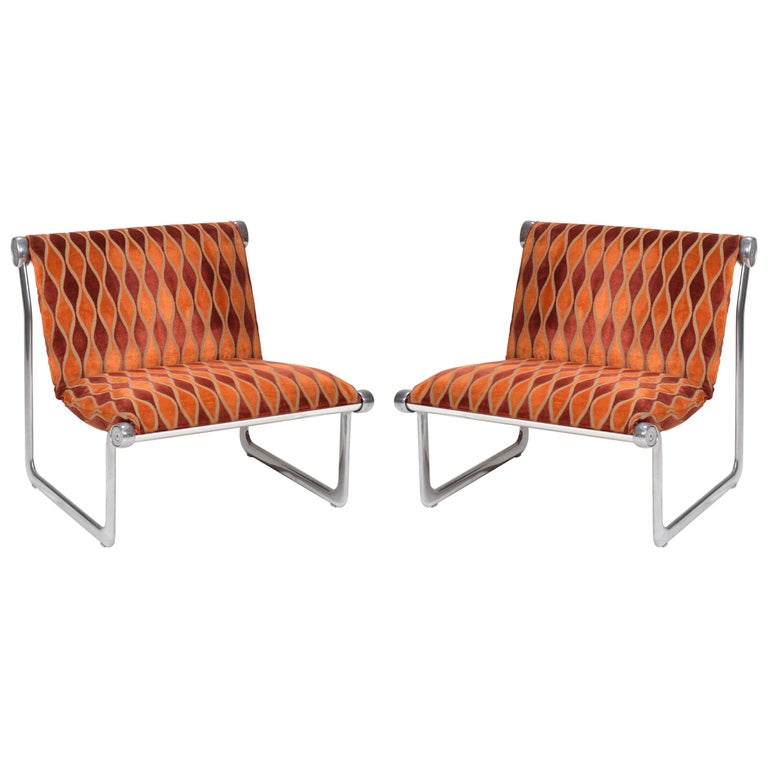 Sling Lounge Chairs by Hannah Morrison for Knoll International For Sale