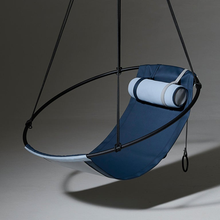 Contemporary Sling Outdoor Hanging Swing Seat, Vegan Enviro Friendly For Sale