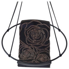 Sling Rose Carved Genuine Thick Veg Tan Leather
