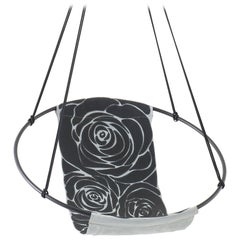 Sling Rose Grey Black Hand Stitched Genuine Leather