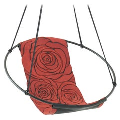 Sling Rose Red Black Hand Stitched Genuine Leather