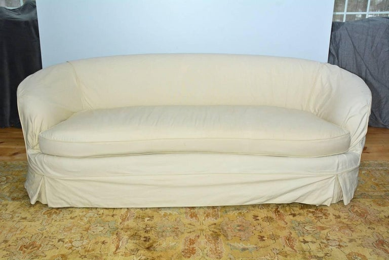 Slipcovered Curved Sofa For Sale At 1stdibs
