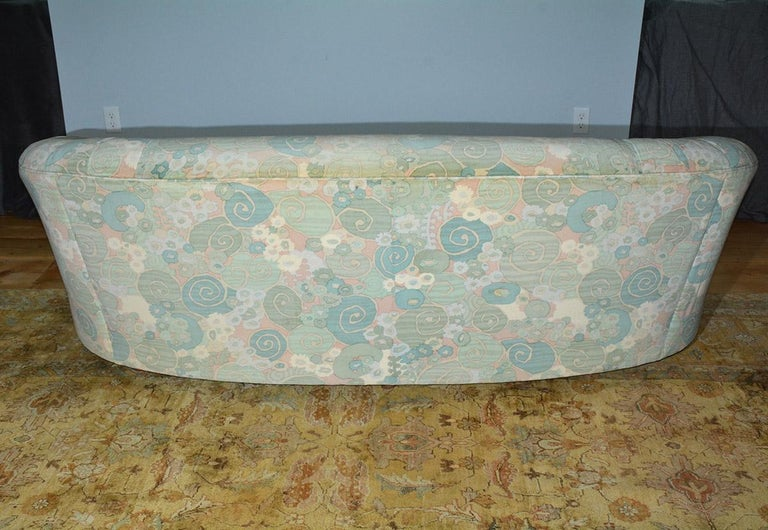 Slipcovered Curved Sofa In Good Condition For Sale In Great Barrington, MA
