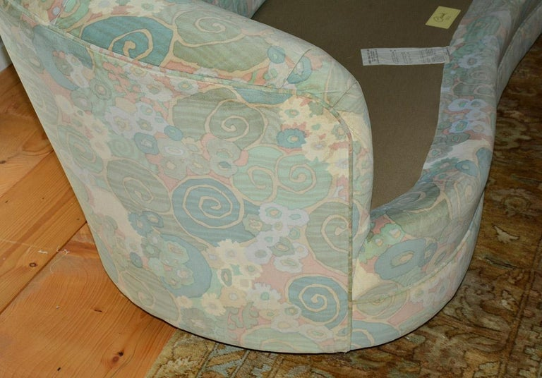 20th Century Slipcovered Curved Sofa For Sale