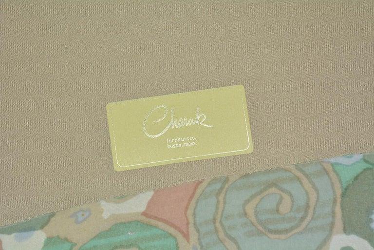 Velvet Slipcovered Curved Sofa For Sale