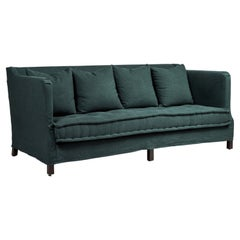 Slipcovered Sofa with Tufted French Mattress Style Seat Cushion