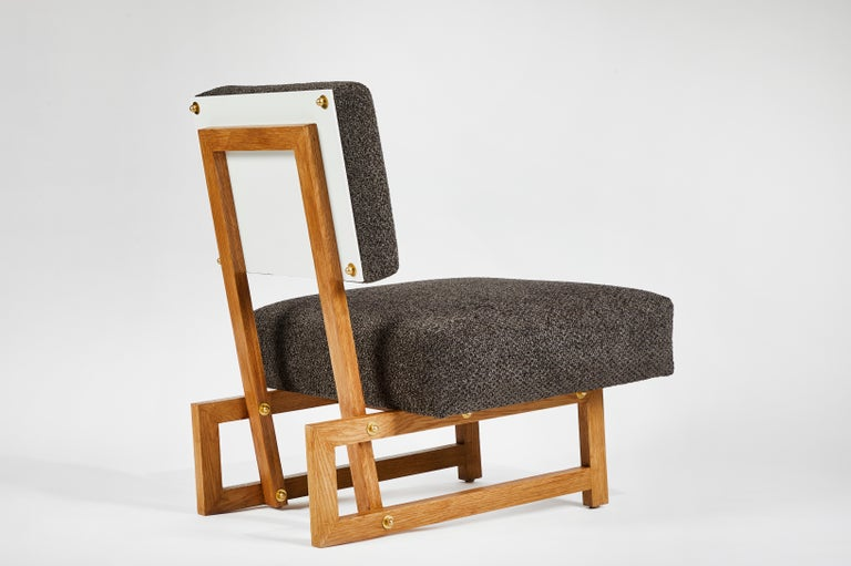 Slipper Chair in the Style of André Sornay For Sale 3