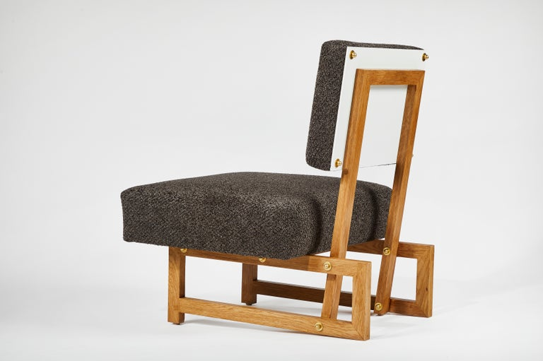 Slipper Chair in the Style of André Sornay For Sale 5