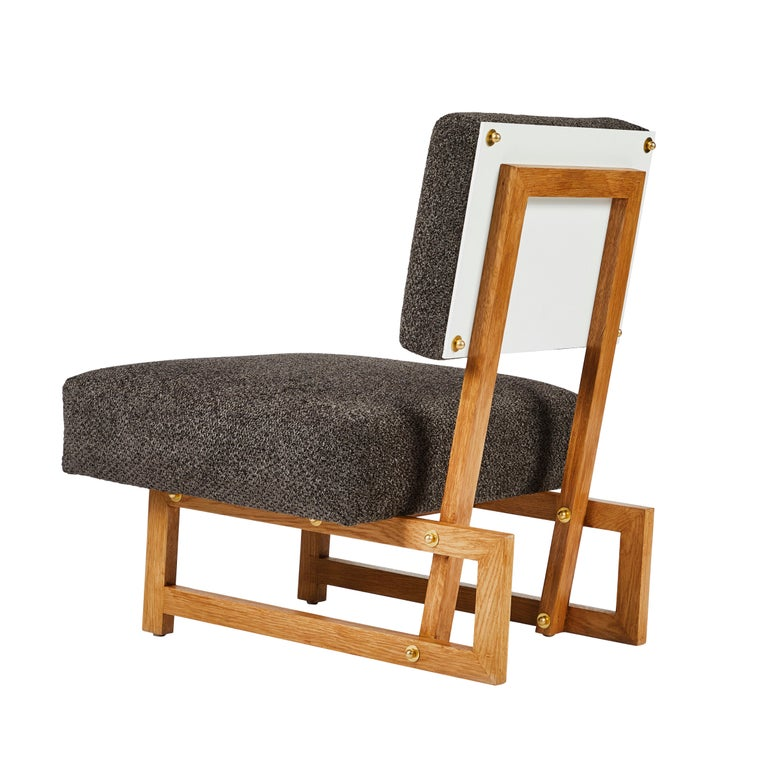 Mid-Century Modern Slipper Chair in the Style of André Sornay For Sale