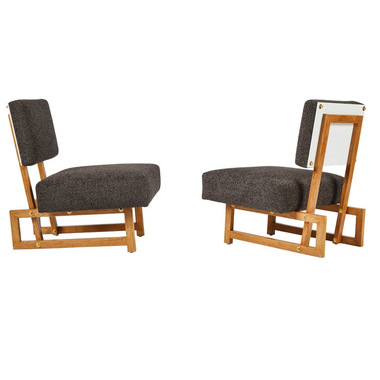 American Slipper Chair in the Style of André Sornay For Sale