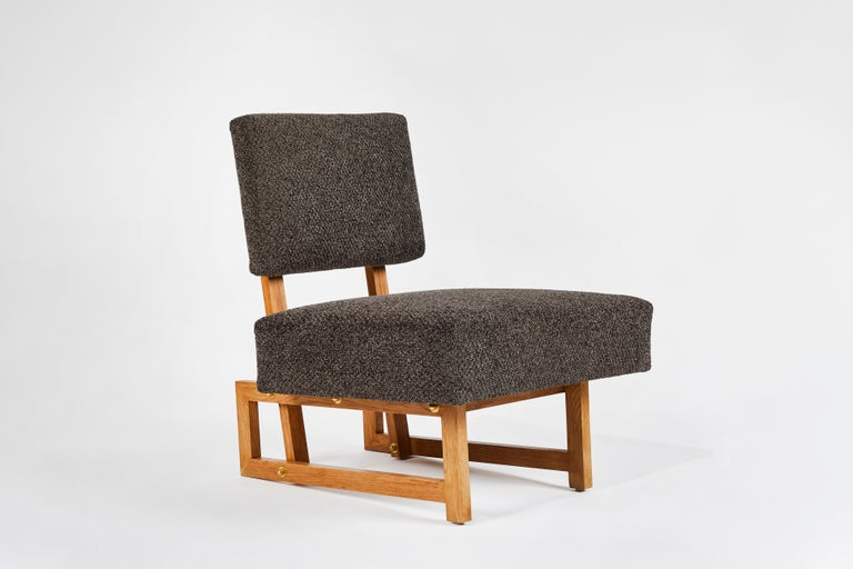 Contemporary Slipper Chair in the Style of André Sornay For Sale