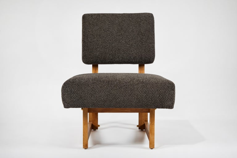 Slipper Chair in the Style of André Sornay For Sale 1