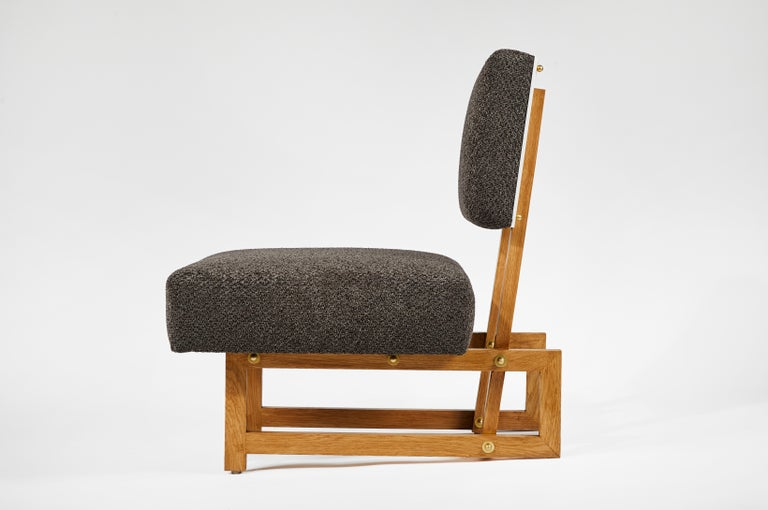 Slipper Chair in the Style of André Sornay For Sale 2