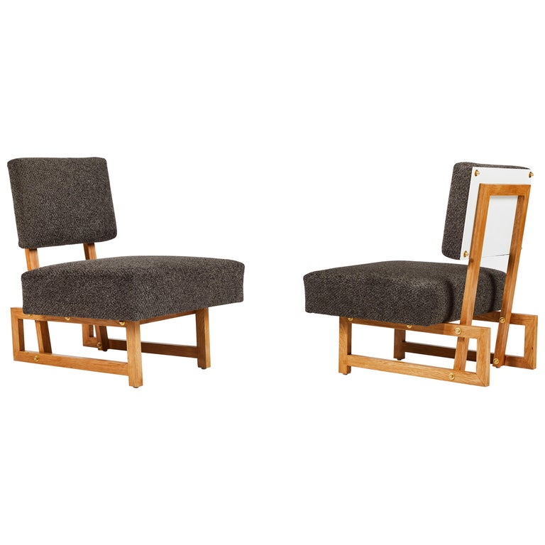 Slipper Chair in the Style of André Sornay For Sale